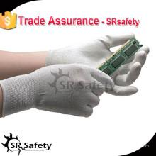 Пальмовая перчатка SRSAFETY ESD PU с лучшим качеством и дешевой ценой, поставщик фарфора / рабочие перчатки