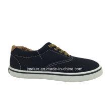 Good Quality Classic Kid′s Walking Canvas Shoe (9985-S&B)