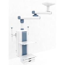 Colgante quirúrgico manual de doble brazo para techo