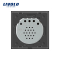 Livolo Стандарт ЕС, 2 банды, двухсторонний сенсорный настенный выключатель света, VL-C702S-15