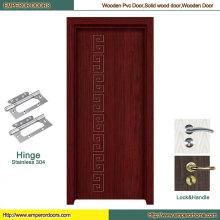Puerta de madera rasante de la puerta interior del PVC de la puerta del PVC del MDF
