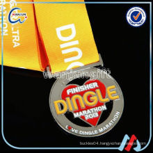 OEM silver custom metal medal for souvenir