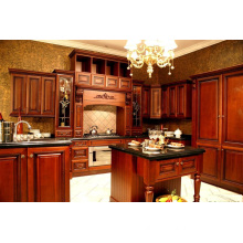 Australian Project Cherry Solid Wood Kitchen Cabinet
