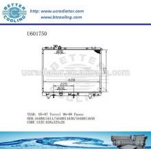 RADIATOR 1640011611/1640011630/1640011650 pour TOYOTA 95-97 Tercel Fabricant et vente directe!