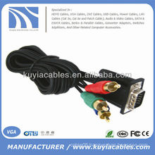VGA to TV 3 RCA Adapter 1M Cable For Computer PC HDTV