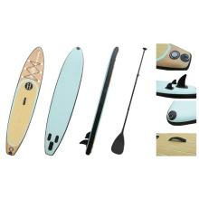 11′ Wood Grain beliebte Muster Sup Board, aufblasbare Stand up Paddle Board, Surfbrett