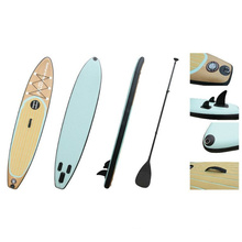11′ Wood Grain Popular Pattern Sup Board, Inflatable Stand up Paddle Board, Surf Board