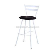Chaise à barres en métal haute Tube en acier, chaise en dossier à dossier blanc Cadre en métal
