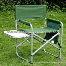 Aluminio silla de Director con taza plato y bolsa de revista