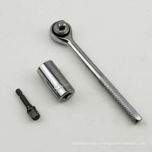 Новые продукты 7-19mm Gator Grip + Ratchet + Drill Adapter Универсальное гнездо