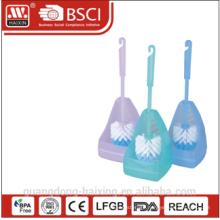 Haixing PP material bathroom clearning plastic toilet brush holder set