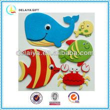 Home decor EVA animal sticker for kids