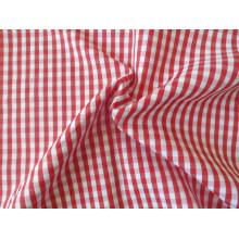 Bereit Lager Polyester-Baumwolle prüft Garn Shirt Stoff eingefärbt