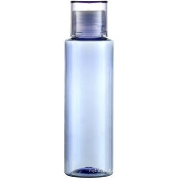 PET thickwall 120ml clear bottle with PP screw cap