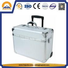 """10"""" Rolling moda Trolley piloto caja de aluminio"""