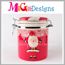 Colorful Santa Design Fresh Food Candy Airtight Jars with Silicone