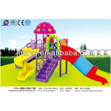JS07001 Buen diseño niños plástico al aire libre patio de juegos