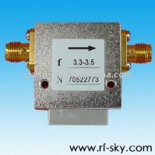 20W 1.4 VSWR 3-6GHz Broadband Rf Isolateur circulateur