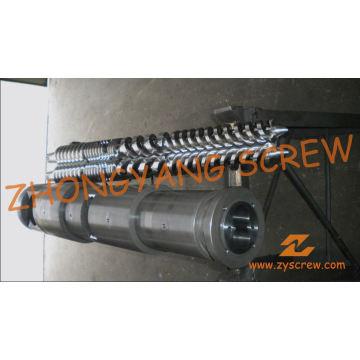 Parafuso duplo cônico e cilindro para folha de PVC