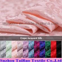 A seda impressa reativa do jacquard do crepe para a seda parou a tela