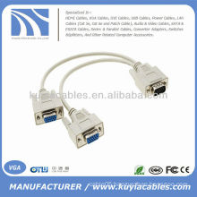 VGA 1 TO 2 Y SPLITTER CABLE MONITOR LCD DUAL DISPLAY