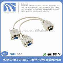 VGA от 1 до 2 Y Монитор кабельного канала с разделителем яркости LCD DUAL DISPLAY