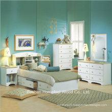 Kids White Wood Captain′s 4 Piece Bedroom Set
