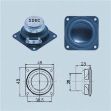 Haut-parleur large bande néodyme 4ohm 10w carré 48mm