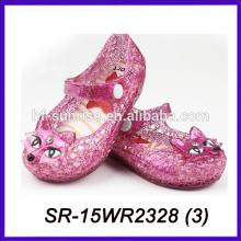 Las nuevas sandalias del pvc de los cabritos del zorro de los cabritos las últimas sandalias del estilo mini melissa