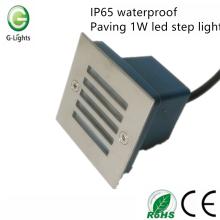 IP65 pavimento impermeável 1W conduziu a luz de etapa