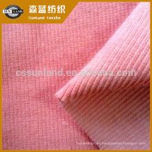 tejido de punto de algodón francés 2 * 2 costillas para ropa