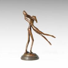 Abstract Statue Dancer Lovers Bronze Sculpture Tple-045