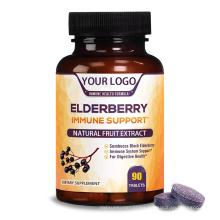 Black Elderberry Extract Natural Fruit Extract DV Chewable Pills