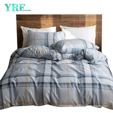 Hospital Cotton Bed Sheets Cheap Price Nordic Style Light Blue Plaid Smooth