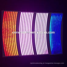 brilho autoadesivo visível alto na decalque escuro da etiqueta do vinil da bicicleta
