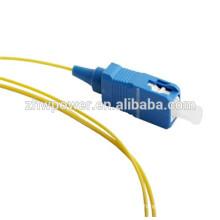 OEM 0.9mm fibra óptica pigtail sc apc pigtail, sc upc simples pigtail fibra óptica made in China