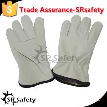 SRSAFETY корова водителя кожа перчатка безопасные рабочие перчатки / безопасность вождения теплые перчатки / коровы зерна кожаные перчатки, Китай поставщик