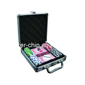 100PCS Poker Chip Set in Aluminum Case (SY-S07)