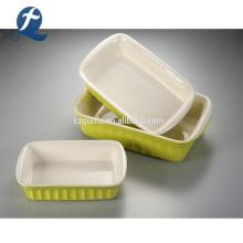 Rectangular Microwave Ceramic Serving Baking Pan Dishes Bakeware Trays