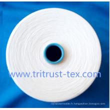 Fil de polyester filé pour fil à coudre 42s / 2