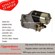 Двигатель стартера Nippondenso 0280009760 для Hino 24V, 4.5kw, 11t