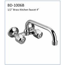 "Bd1006b Double Handles Brass 4 ""Kitchen Faucet"