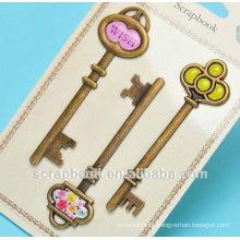 chaves antigas para decoração de recados/metal