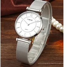 Reloj de lujo de acero inoxidable de malla de movimiento de encargo de Japón