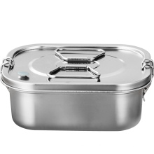 New Stainless steel lunch box ECO-friendly Plastic-Free Quality Buckle & Silicone Seal Leakproof Stainless Steel Bento  Lunch B