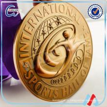 Medalha de bronze religiosa do ouro 3D 2016