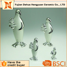 Покрытие керамического пингвина ремесло для домашнего украшения