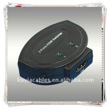 High Quality MINI 2x1 HDMI Switcher MINI 2 in 1 out HDMI Switcher