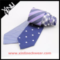 Dog Tooth and White Dots Double Sides Cheap Mens Beautiful Silk Ties