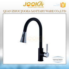 High quality single handle pull down black kitchen faucet